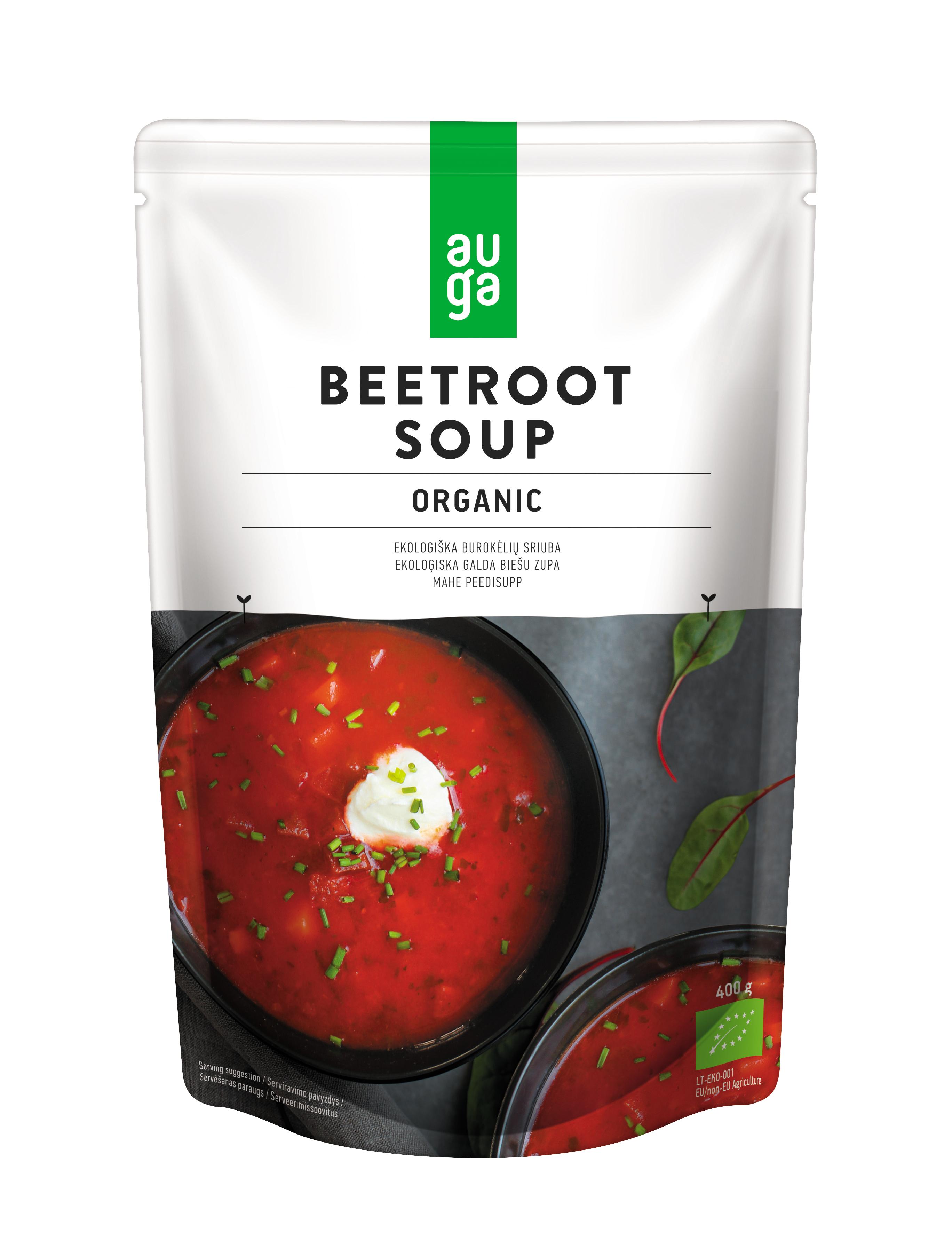 Auga organic beetroot soup