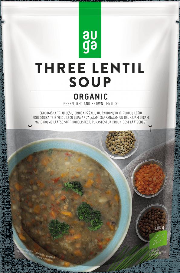 Auga organic three lentil soup
