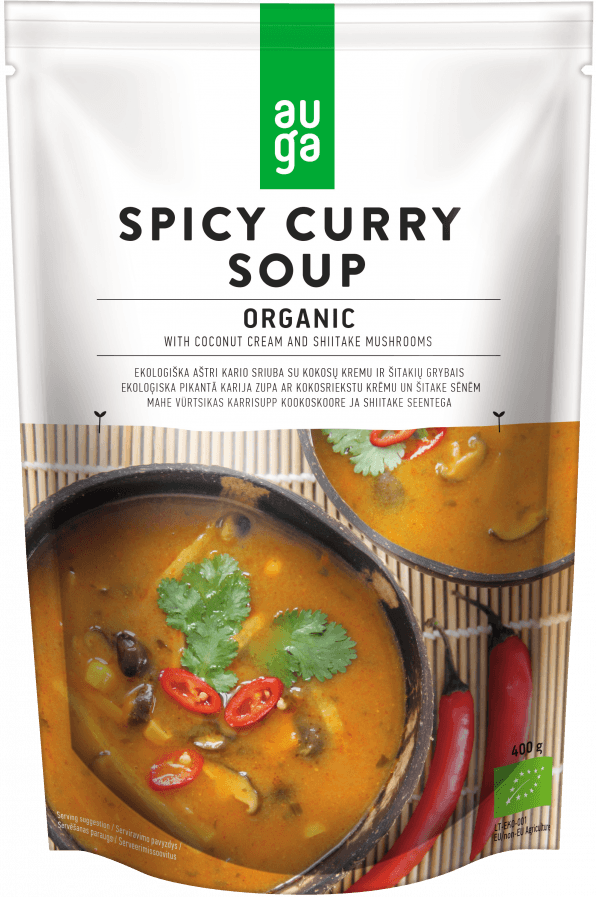 Auga organic spicy curry soup