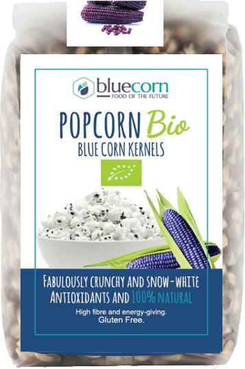Popcorn bio blue corn kernels gluten free