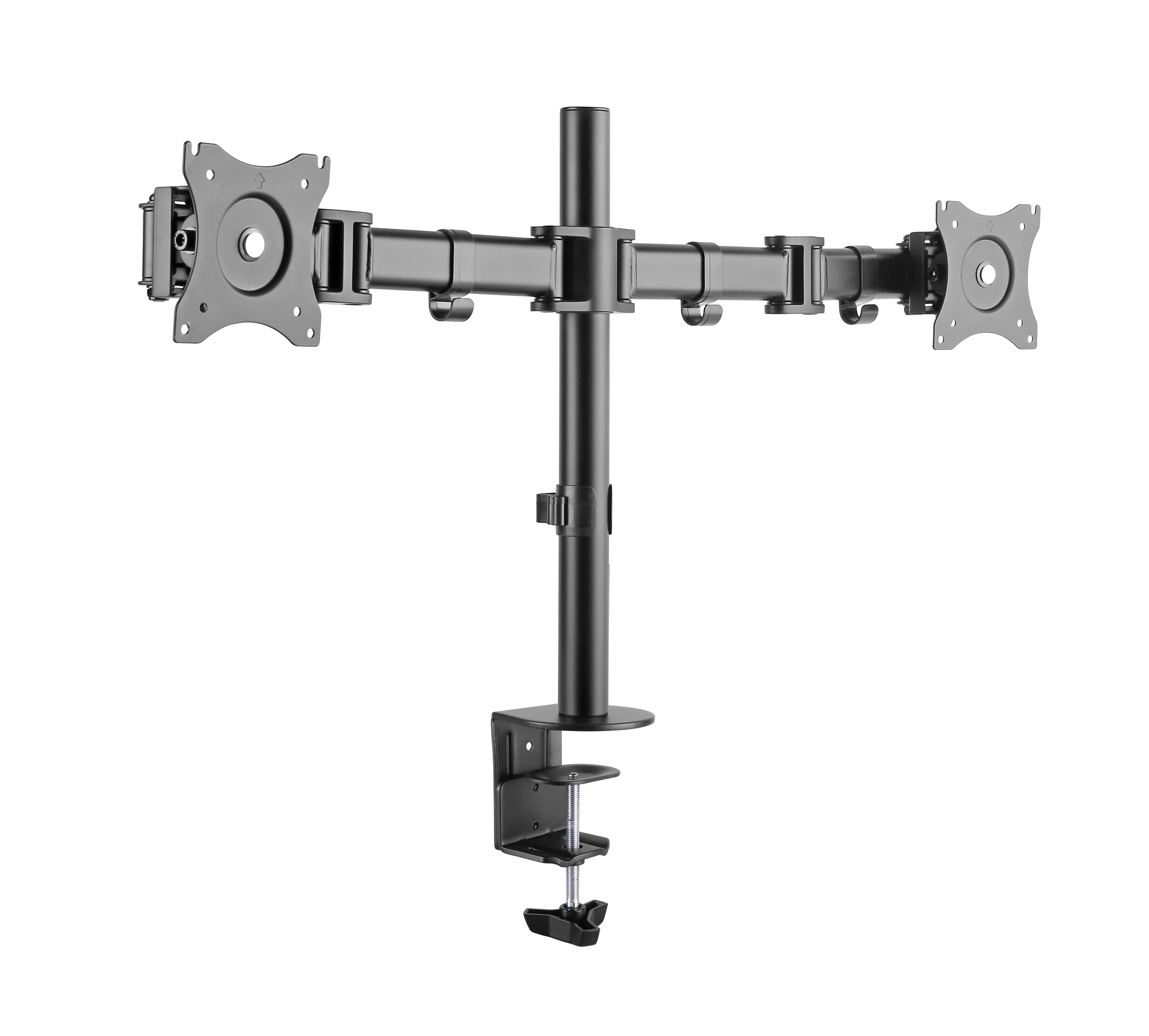 Monitor bracket for two monitor flexible type