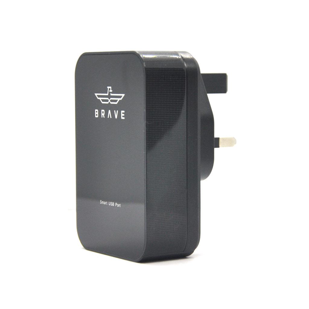 Brave 4-port smart charger black - (bmp-004)