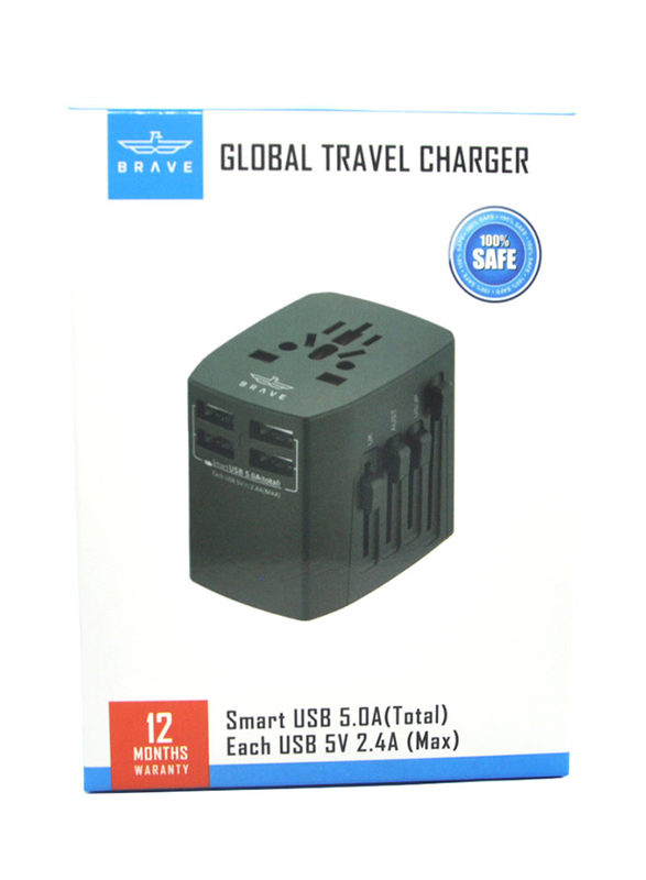 BRAVE Global Travel Charger Black - (BGT-001)_4