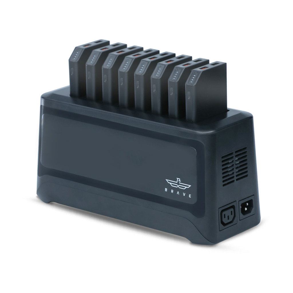 BRAVE Ultimate Docking Station Quick Charge Power Banks 10000mAh x 8 Black - (UDS-108)_6