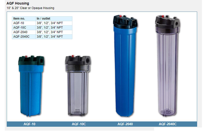 AquaPro Water Filter Housing