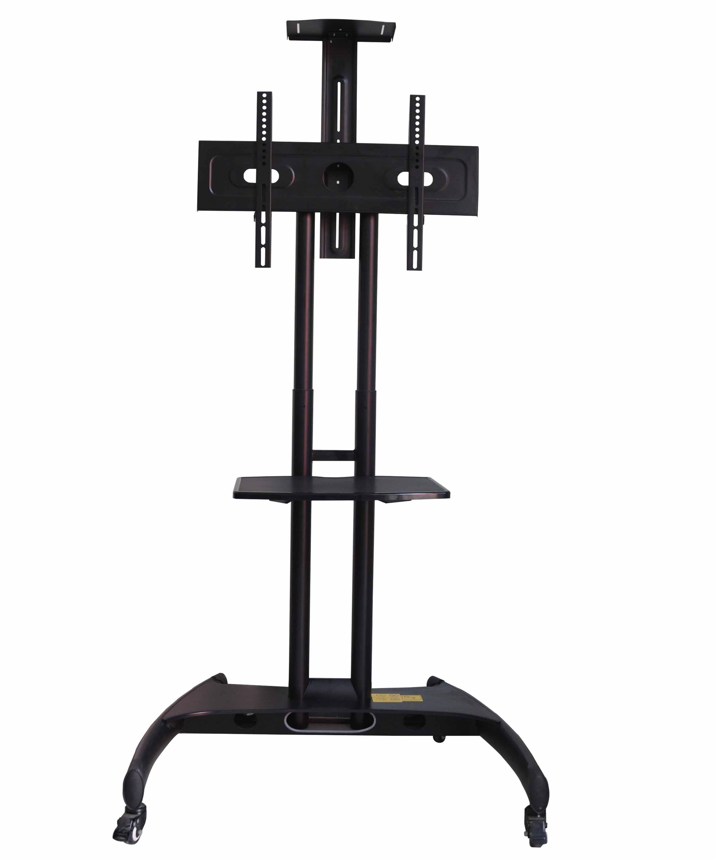 Tv floor stand trolley type