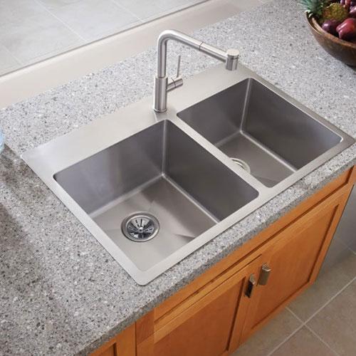 Double bowl dropin sink