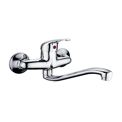 Wall fixed sink faucet