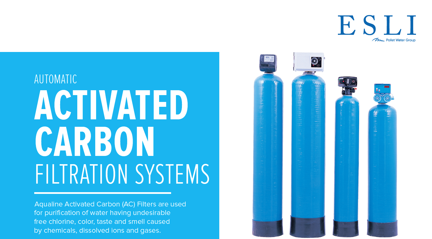 Automatic activated carbon filtration systems