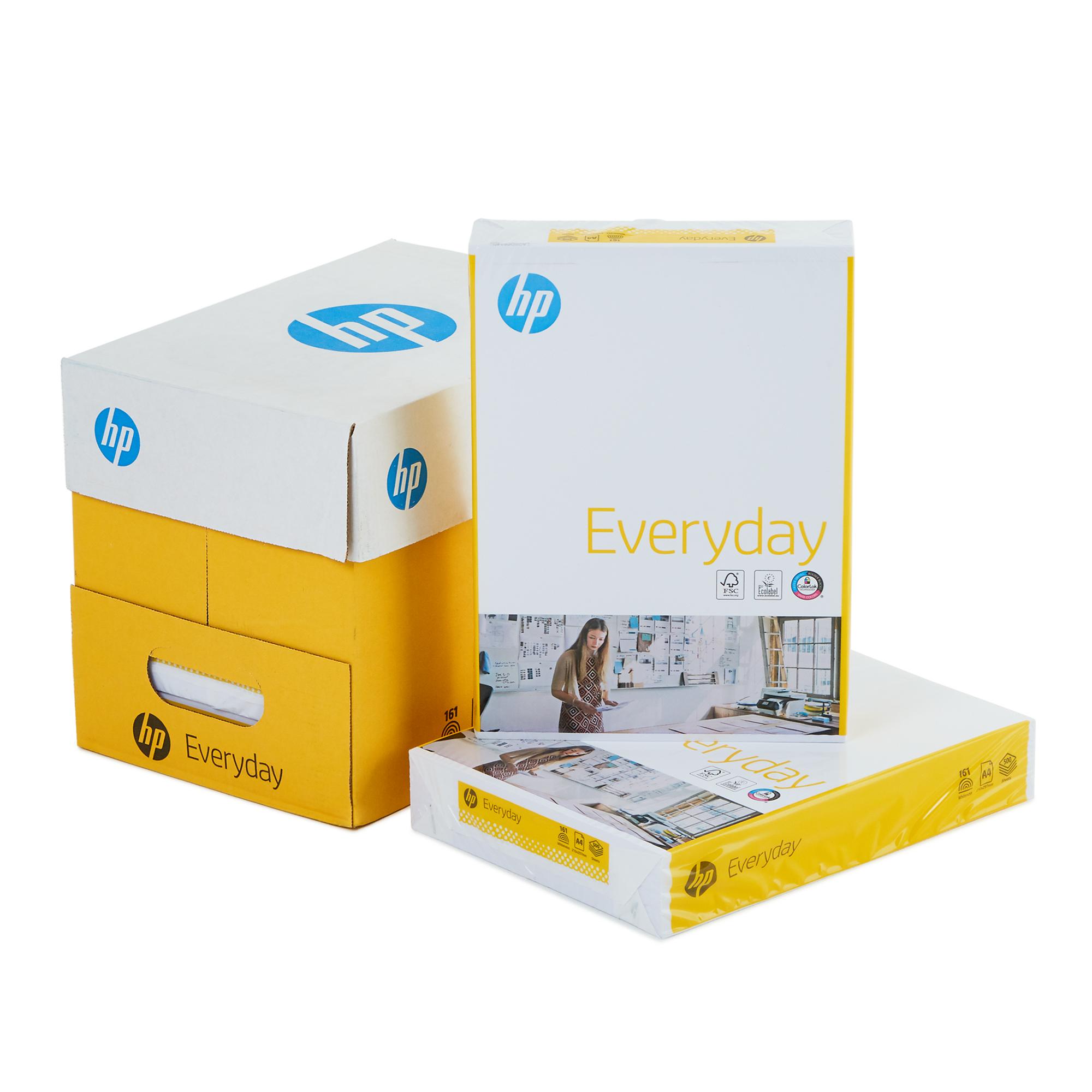 Hp everyday a4 paper, 1 carton, 500 sheets/ream, 80 gsm 5-reams/1 carton
