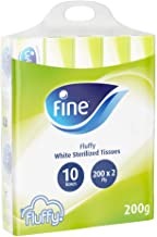 Fine Fluffy Facial Tissues, Pack of 10 x 200 Sheets x 2 Ply_2