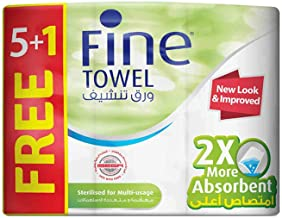 Fine, Sterilized Paper Towel – Super, Sterilized, 60 sheets x 2 Ply, pack of 6 rolls_2