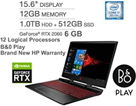 OMEN by HP Laptop 15-dc1xxx with 12 Processors+RTX 2060 6 GB Graphic+9750H Gen (Intel Ci7, 12 GB RAM, 1TB HDD, 512 GB SSD, 15.6 Inch Display, Backlit Eng K.B) Win 10, Black_2