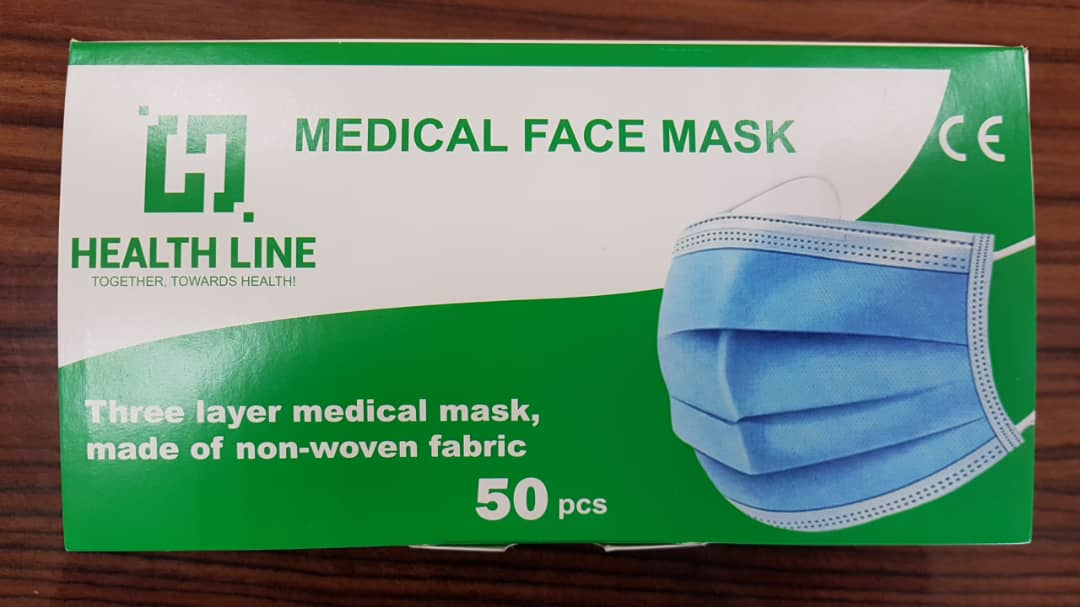3 ply face masks, medical/non medical - type iir