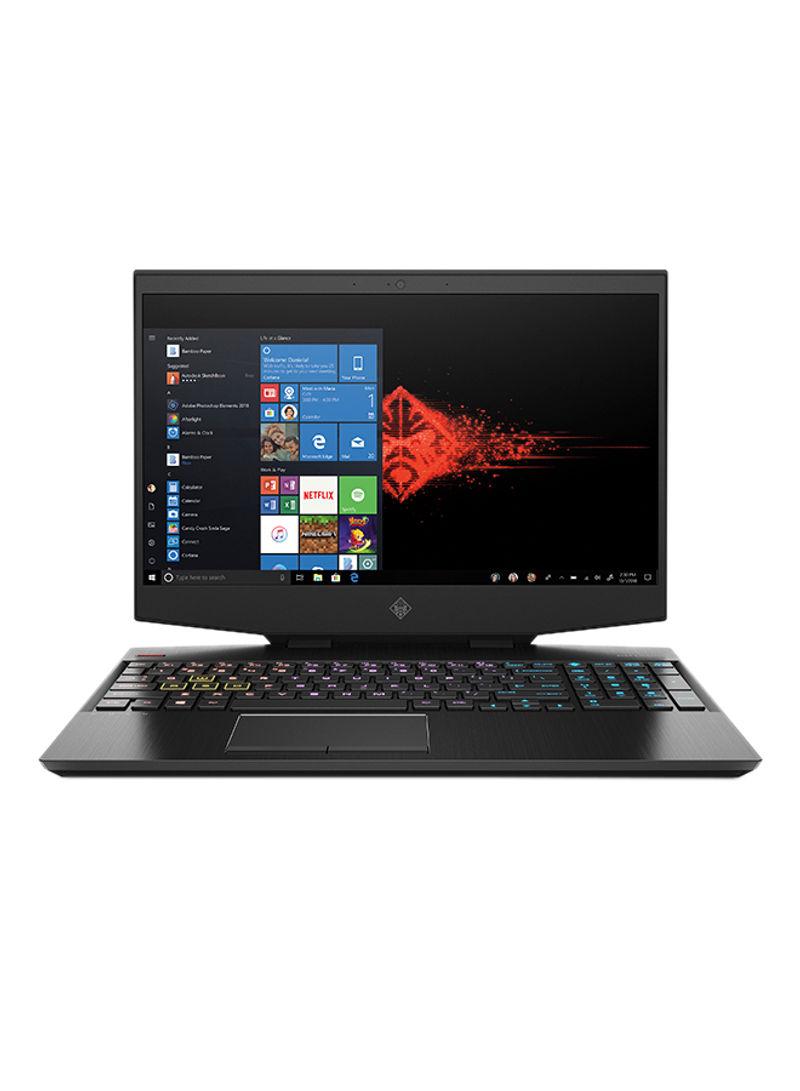 Omen 15-dh0023ne Gaming Laptop, 15.6-Inch Display, Core i7-9750 Processor 32GB RAM 1TB SSD 8GB NVIDIA GeForce RTX 2070 With Max-Q Design Graphics And English Arabic Keyboard Black