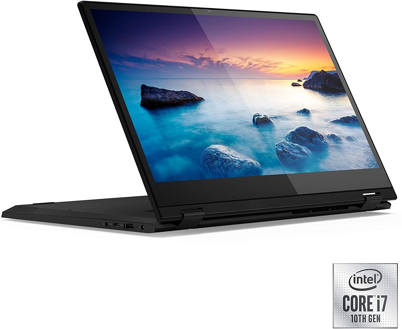 IdeaPad Flex 15 Convertible 2-In-1 Laptop With 15.6-Inch Display, Core i7 Processor 12GB RAM 512GB PCie SSD+2TB HDD Hybrid Drive Intel UHD Graphics 620 Onyx Black
