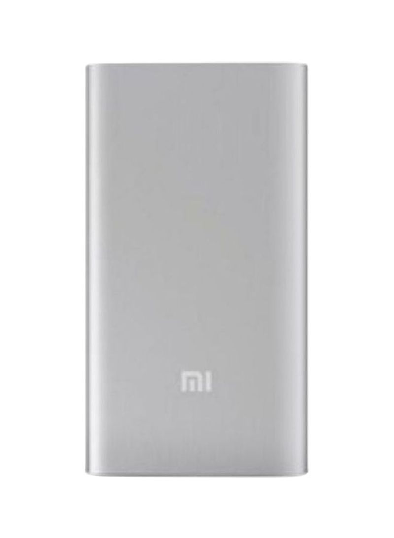 10000 mah power bank with type-c cable 71x141.8x14millimeter silver