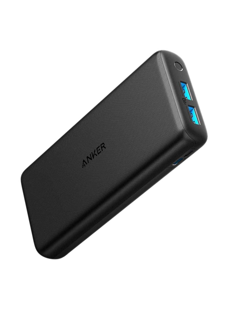 20000 mAh PowerCore Lite Dual Port Power Bank With External Battery 6.1x2.8x1.0inch Black_2