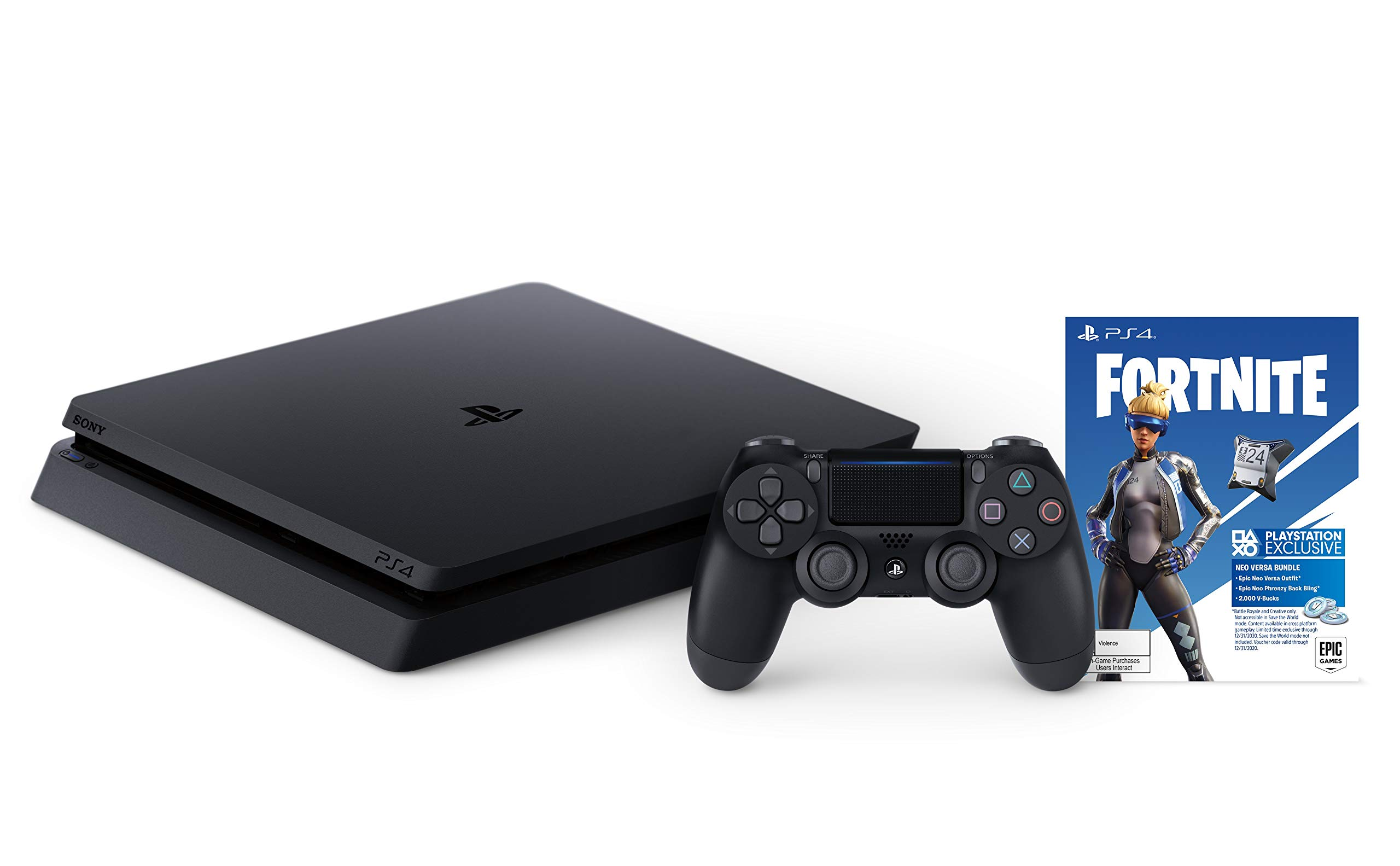 Playstation 4 slim 1tb console with fortnite