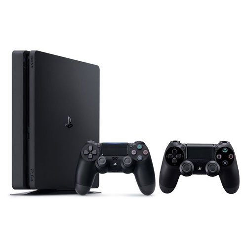 Playstation 4 slim 1tb console with 2 dualshock 4 wireless controller