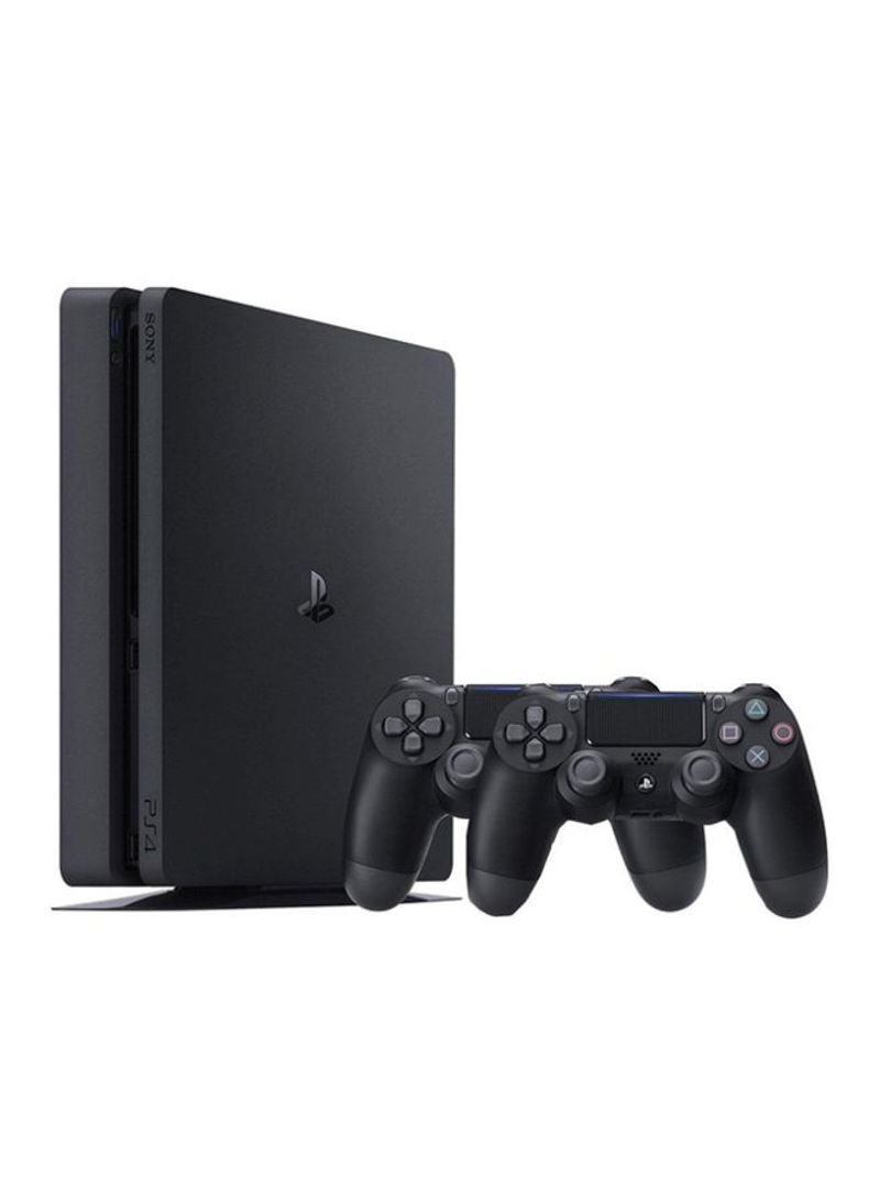 Playstation 4 slim 500gb console with 2 dualshock controllers