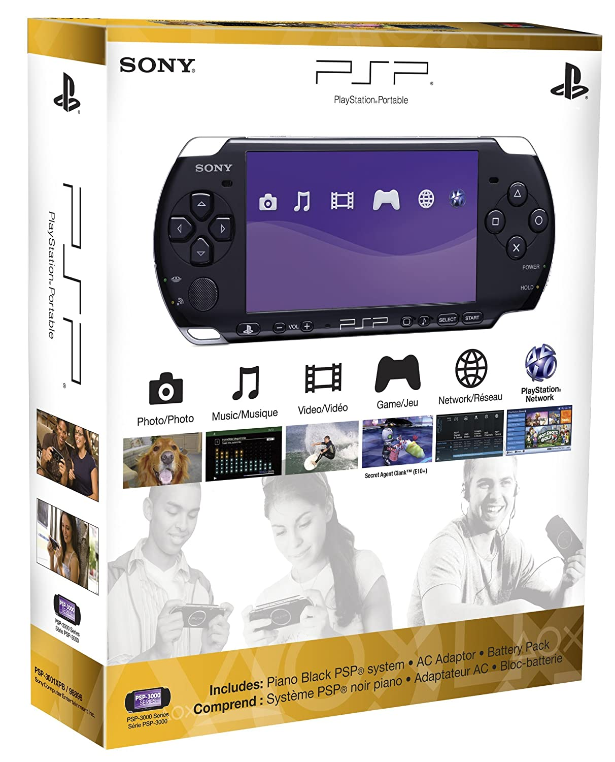 Playstation portable 3000 slim handheld console