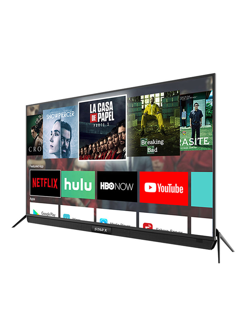75-inch 4k uhd smart led tv with sound bar system ,digital netflix and youtube 75uh680v black