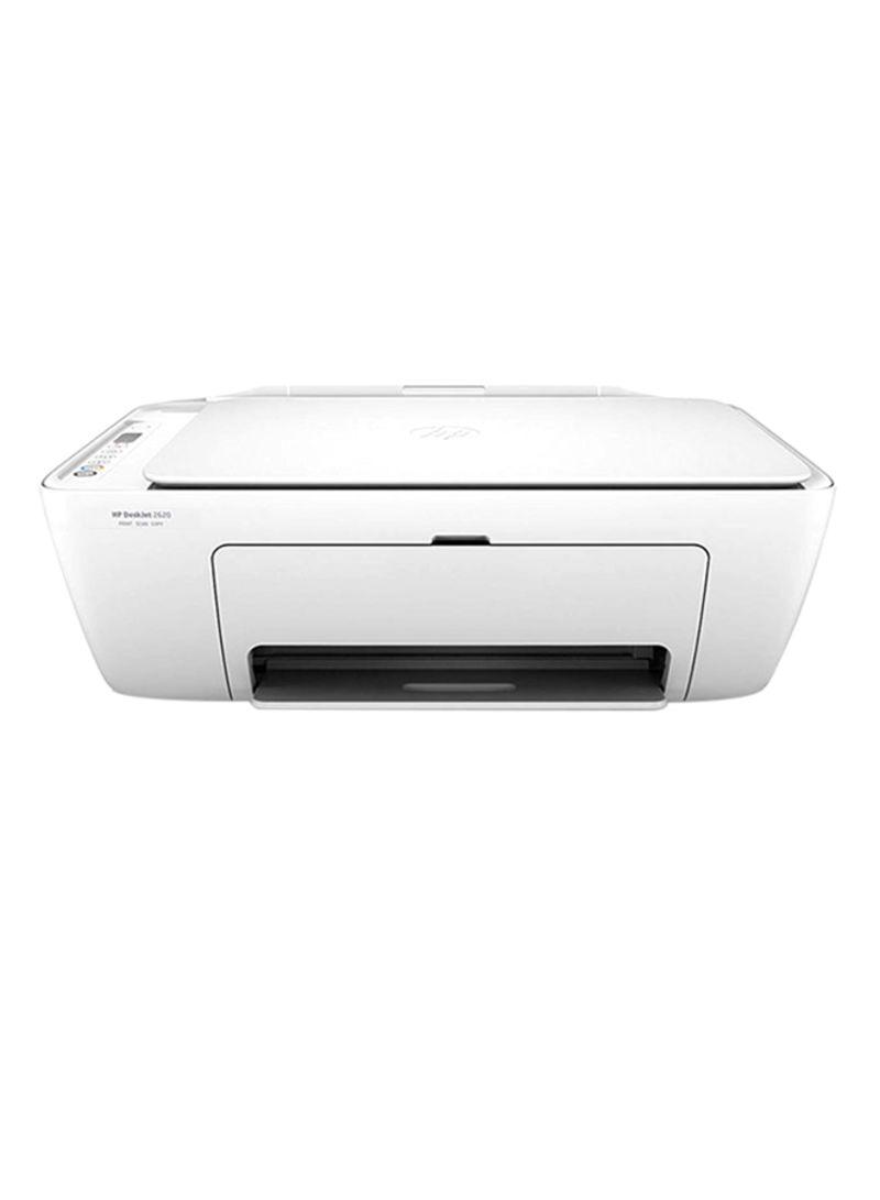 All-in-one wireless deskjet 2620 printer,v1n01c white