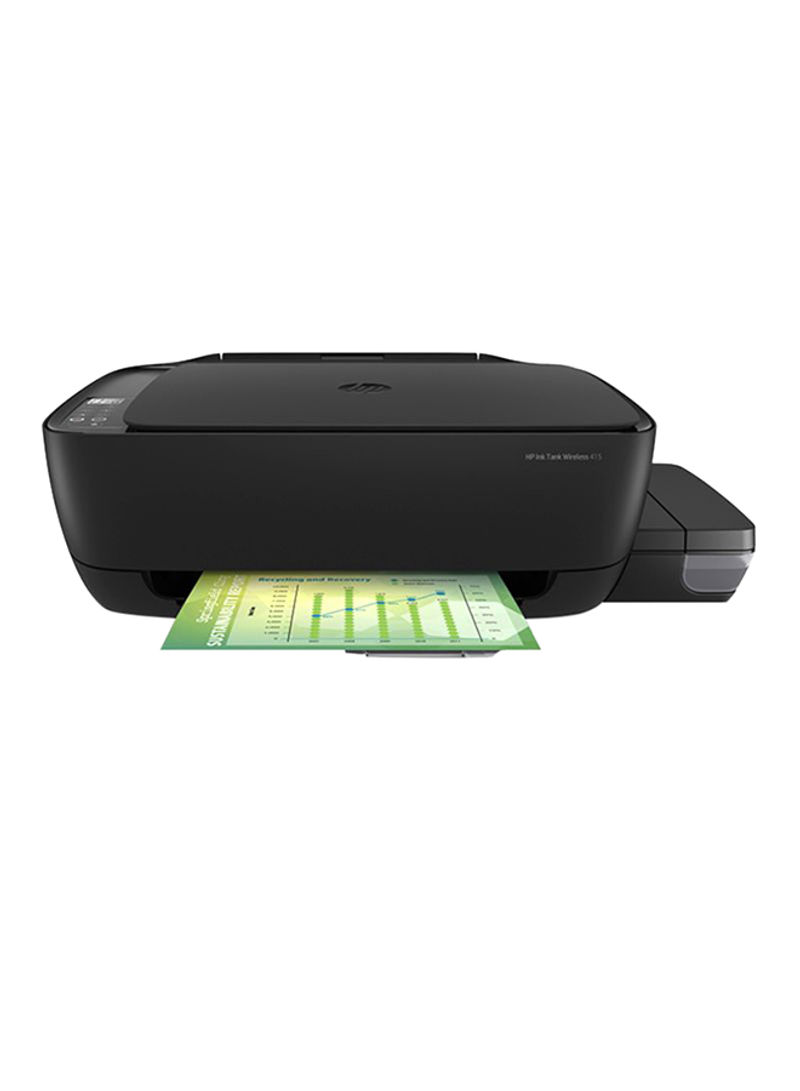 Ink tank 415 all-in-one printer with print copy scan wireless function,z4b53a black