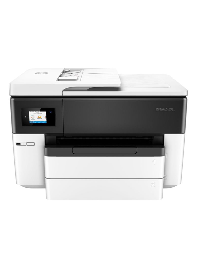 OfficeJet Pro 7740 All-In-One Printer With Scan Wi-Fi Function Black,G5J38A White Black