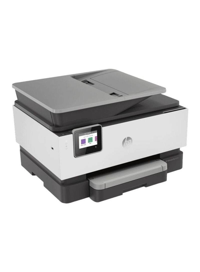 Officejet pro 9010 all-in-one color printer with print copy scan fax wi-fi function 439.3x342.5x278millimeter white black