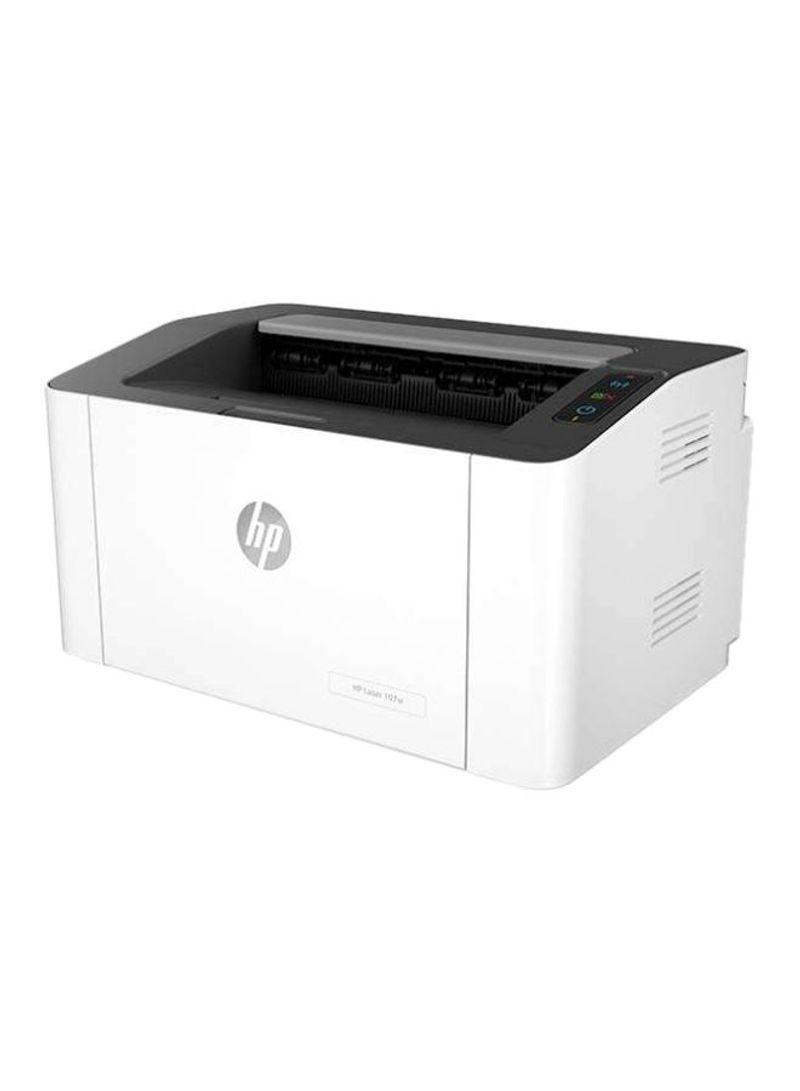 M107w Laser Printer With Wi-Fi Function,Monochrome,4ZB78A White