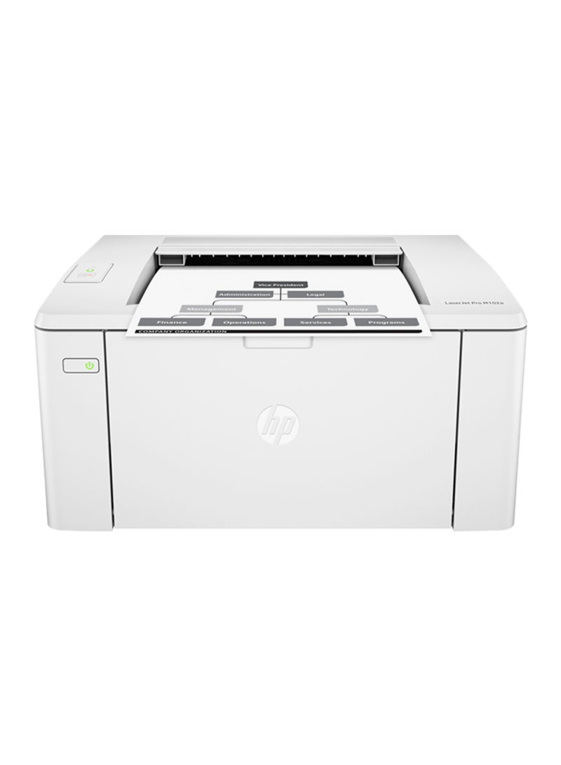 LaserJet Pro M102a Monochrome Laser Printer,G3Q34A 9.7 x 7.5 x 14.3inches White