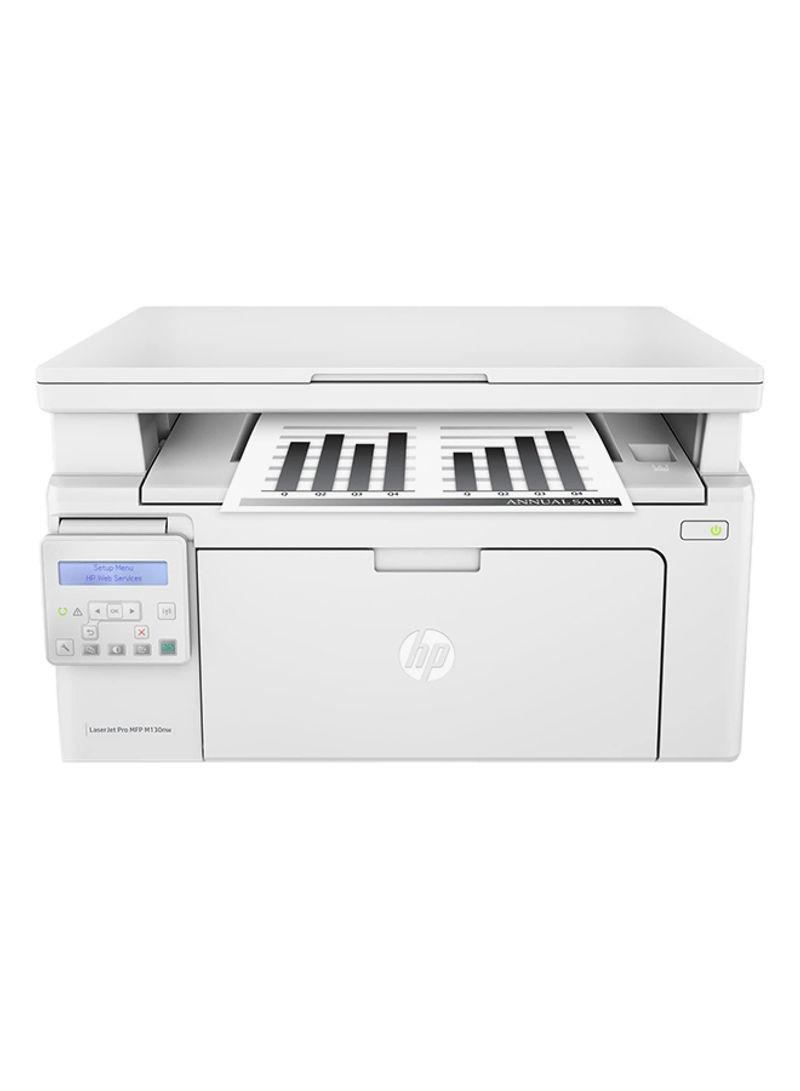 LaserJet Pro M130nw All-in-One Monochrome Wireless Laser Printer,G3Q58A White_2