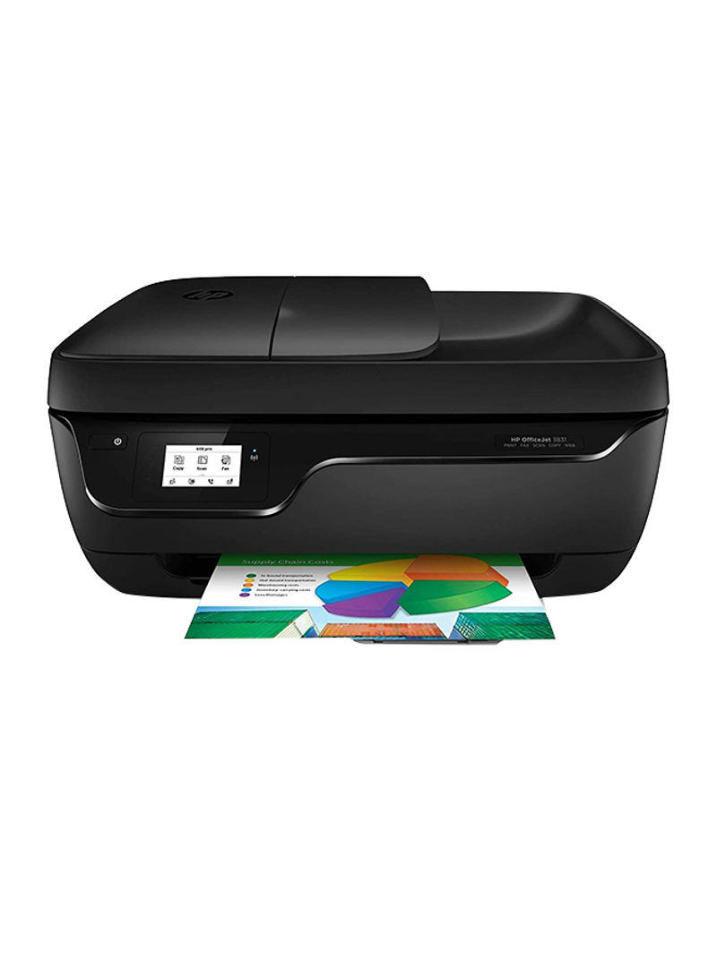 Deskjet ink advantage 3835 all-in-one printer with print scan copy fax function,f5r96c black