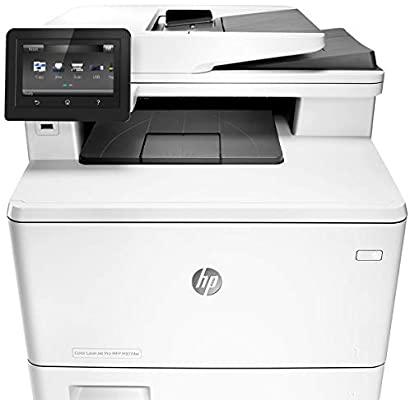 Color laserjet pro multi function printer m377dw white