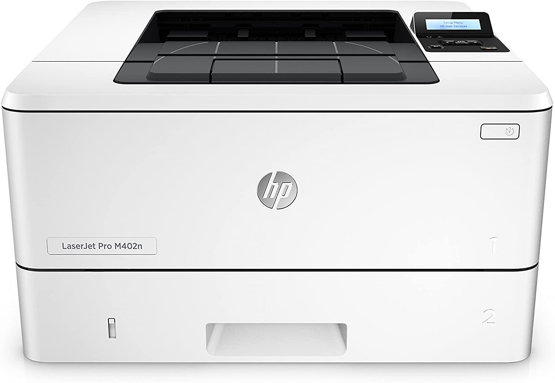 Laserjet pro m402n monochrome laser printer,c5f93a white