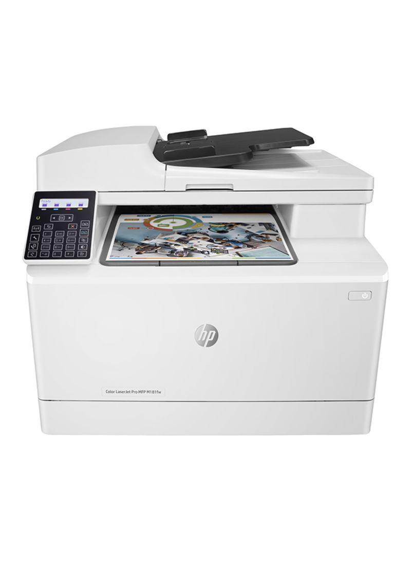 Color laserjet pro multifunction wireless m181fw printer,t6b71a white