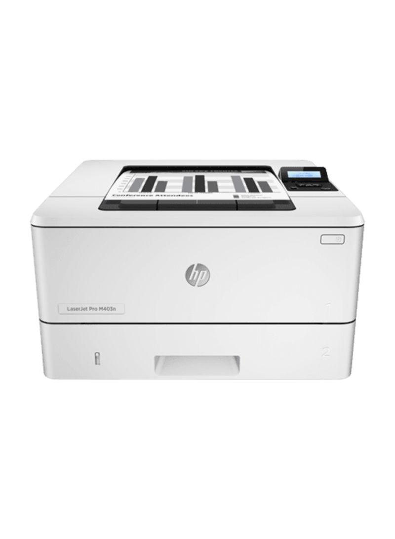 Laserjet pro m402n monochrome laser printer,c5f93a 443 x 274 x 464millimeter white