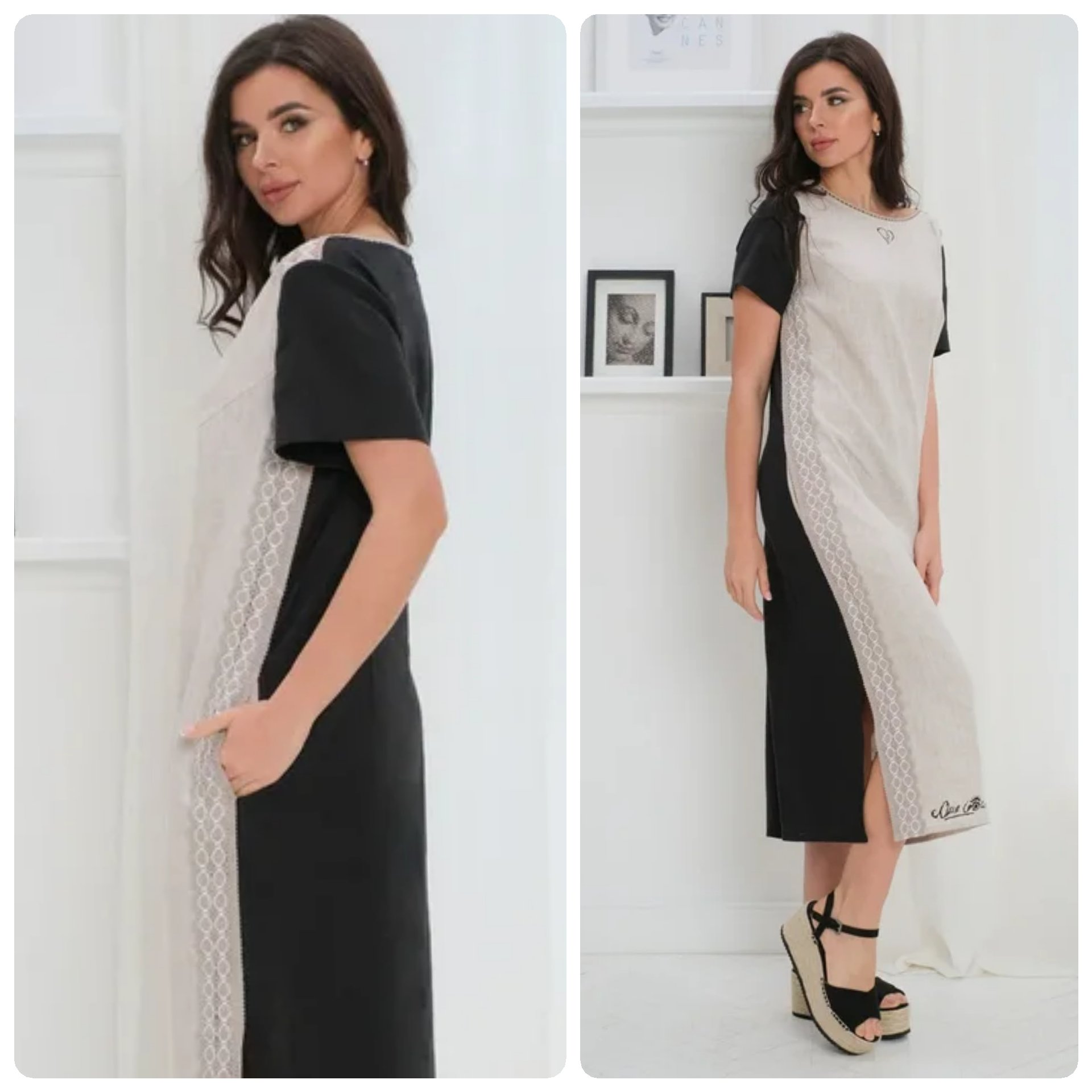 Casual dress made from 100% linen!