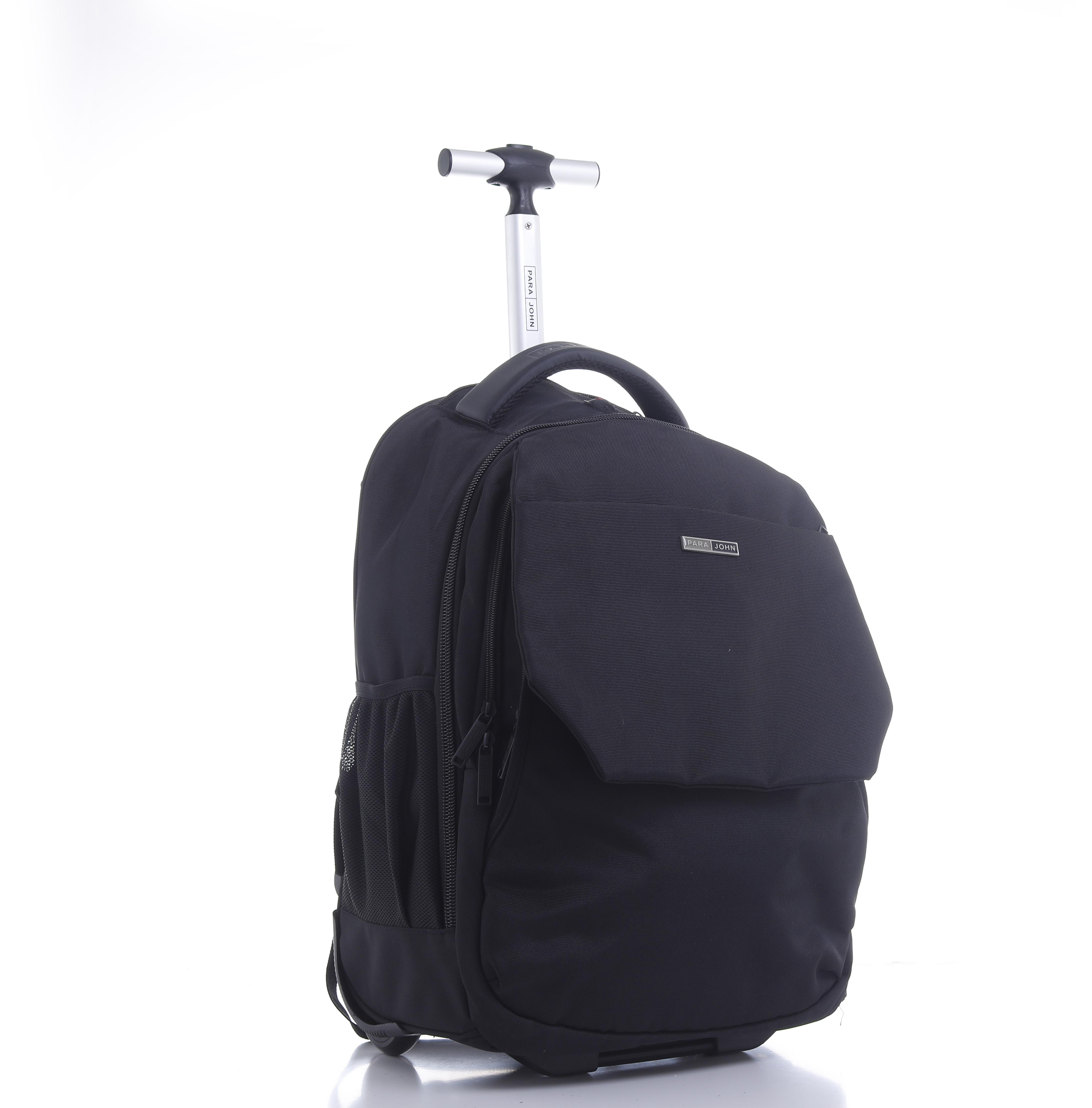 Para john rolling wheeled backpack, 20'' rucksack – business travel laptop backpack/rucksack - wheeled cabin hand luggage laptop backpack college school computer rucksack bag for men/women