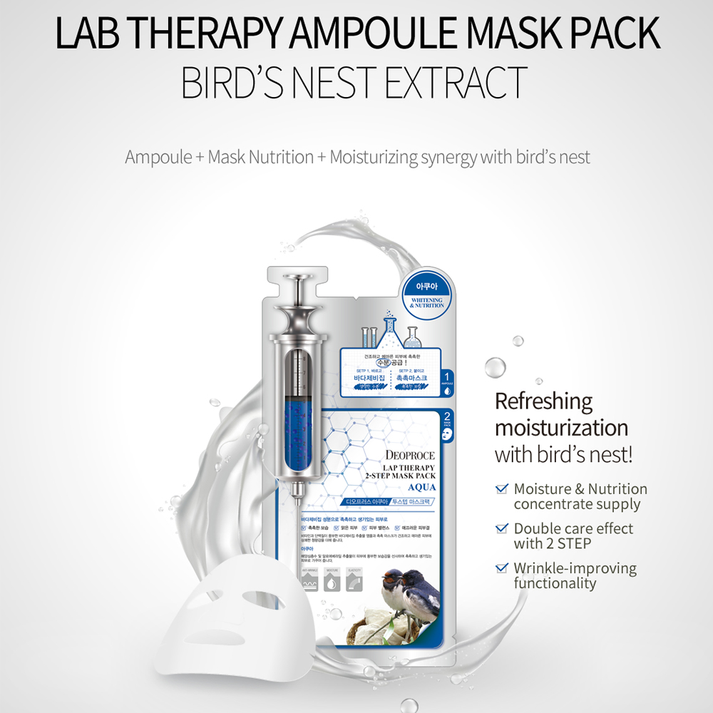 Deoproce 2 STEP Lap Therapy Ampoule Mask Pack - SWALLOW'S NEST_3