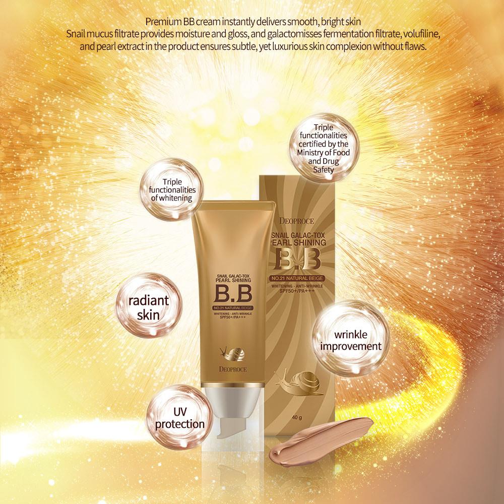 Deoproce Snail Pearl Shining BB Cream (SPF50) #23 SAND BEIGE_2