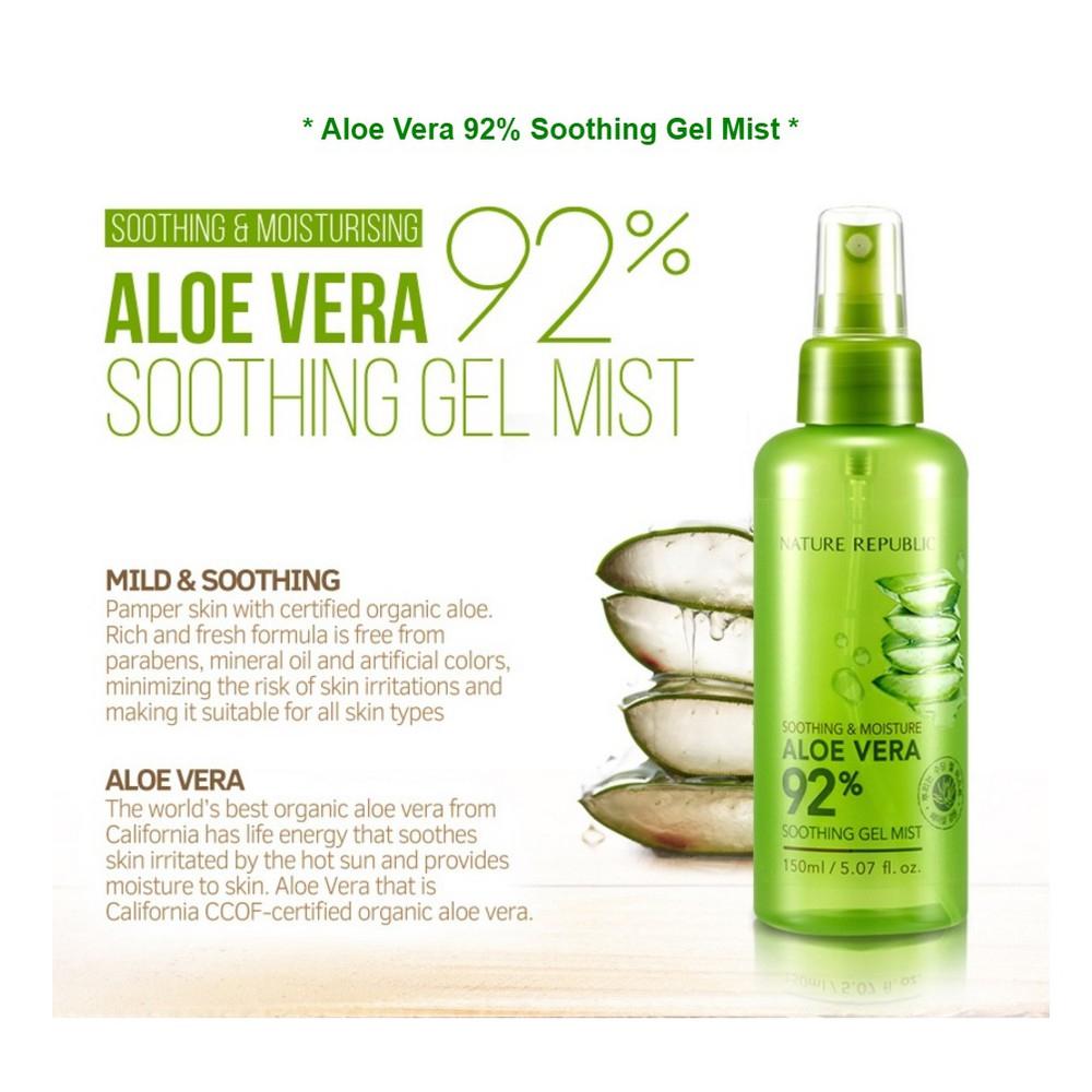 NATURE REPUBLIC 92% Aloe Vera Soothing Gel Mist 150ml_3