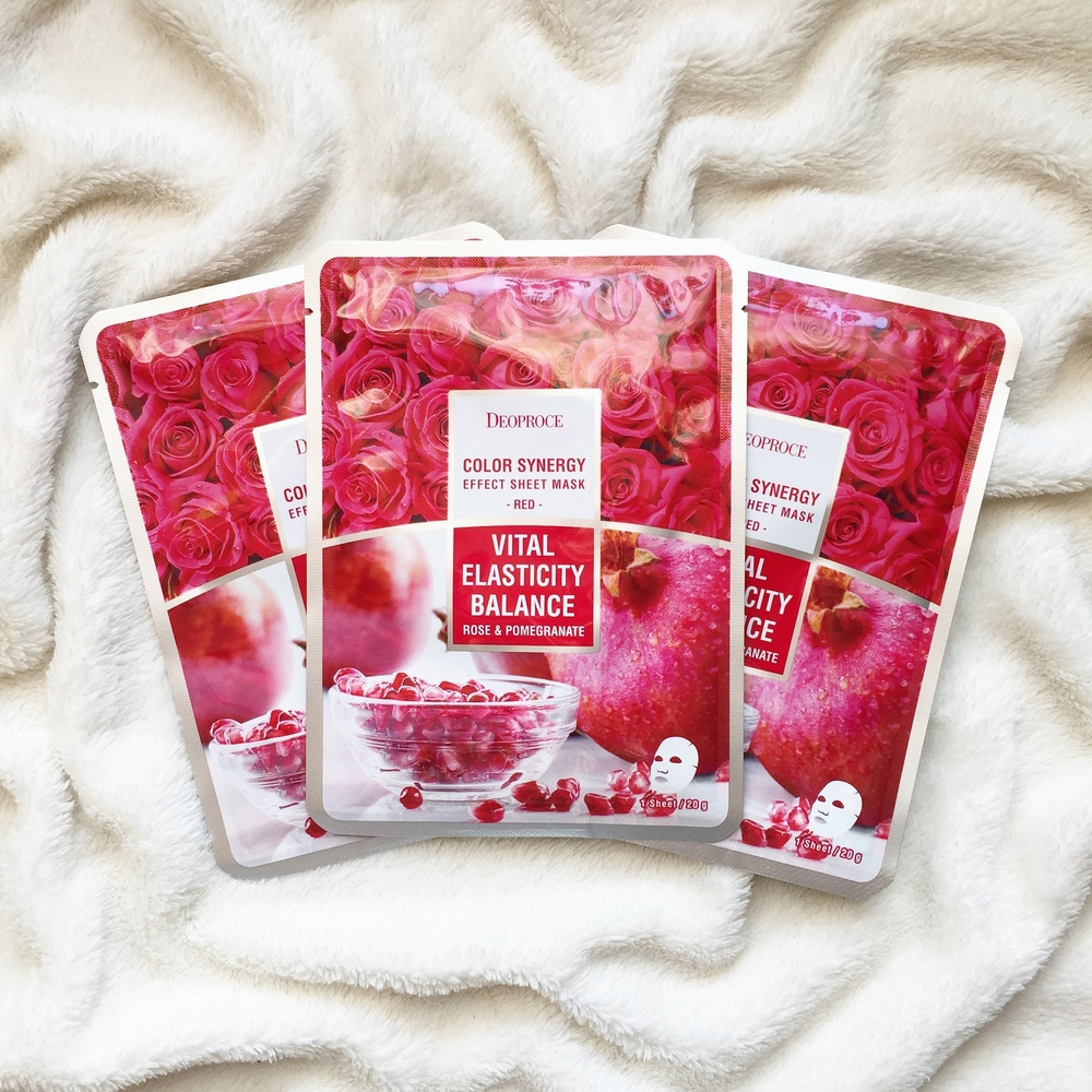 DEOPROCE Color Synergy Mask RED - Rose and Pomengrenate_3