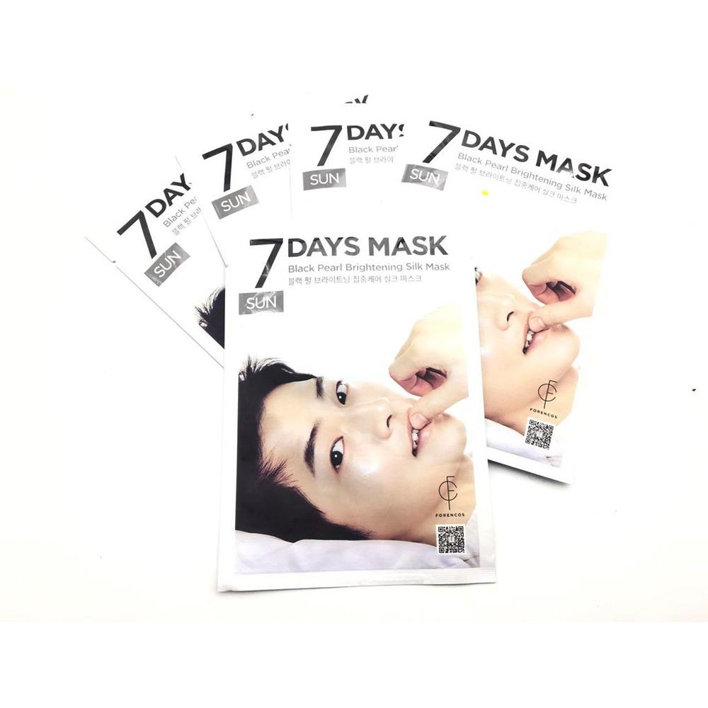 Forencos 7 Days Mask Black Pearl Brightening Silk Mask,25ml