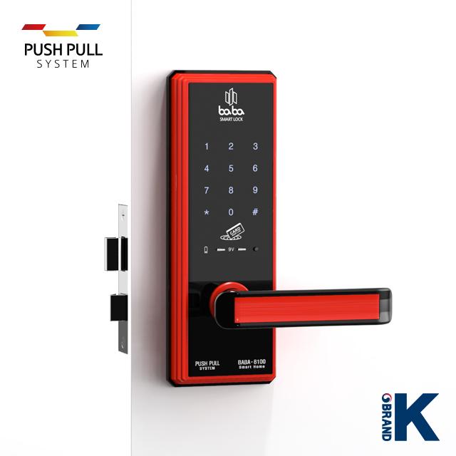 Electronic smart door lock BABA-8100 handle door lock_4