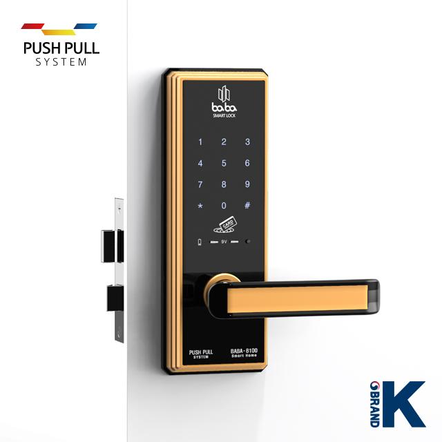 Electronic smart door lock BABA-8100 handle door lock_3
