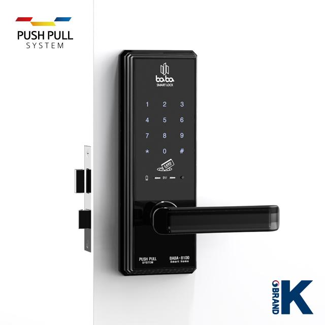 Electronic smart door lock BABA-8100 handle door lock_2
