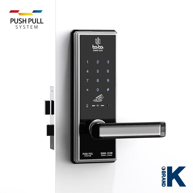 Electronic smart door lock BABA-8100 handle door lock_5